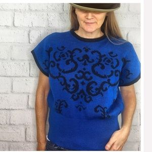VTG Miss Pendleton Sweater Wool Vest blue Medium